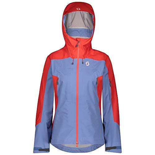 Scott W Explorair 3L Jacket Colorblock-Blau, Damen Dermizax™ Jacke, Größe S - Farbe Grenadine Orange - Riverside Blue