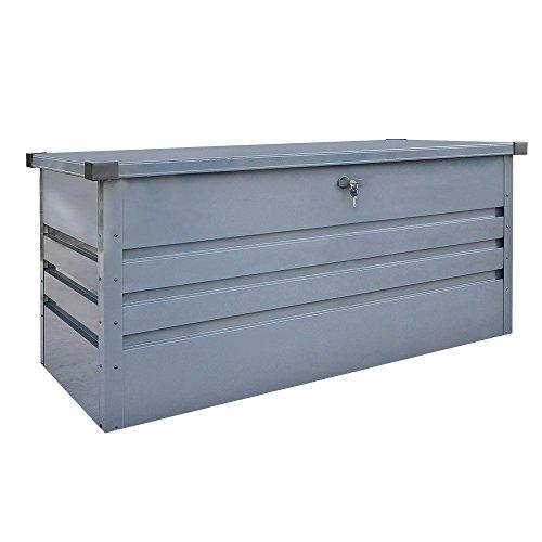 Home Deluxe - Metallaufbewahrungsbox - Megabox XL - verzinktes Stahlblech, 400L Fassungsvermögen - Maße: 126 cm x 56 cm x 62 cm | Aufbewahrungskiste Gartenbox Auflagenstauraum