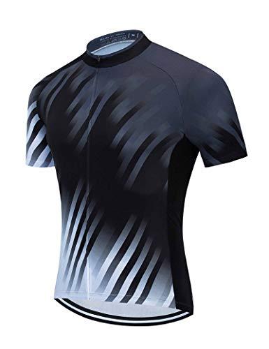 Cremallera completa Hombre Compresión Ciclismo Jersey de ciclismo Camiseta de manga corta Pantalones cortos Trajes de bicicleta Estiramiento Secado rápido Bolsillo de verano Resistente al desgaste
