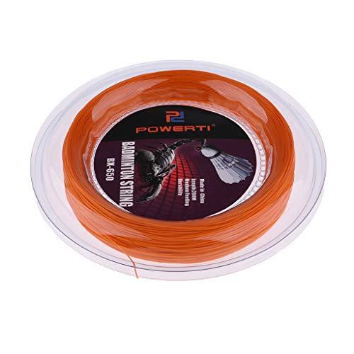 SM SunniMix 200m Tennissaite Badmintonsaite Rolle Seil mit Hoher Flexibilität - Orange