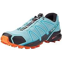 Salomon Speedcross 4 W, Zapatillas de Trail Running para Mujer, Turquesa Meadowbrook Black Exotic Orange, 36 EU