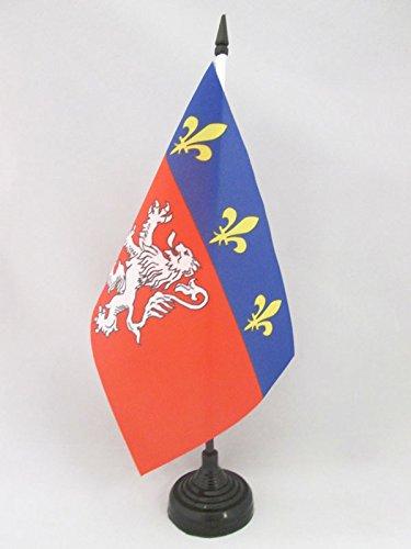 AZ FLAG Bandera de Mesa de la Provincia DE Lyonnais 21x14cm - BANDERINA de DESPACHO DE Lyon - Lion 14 x 21 cm