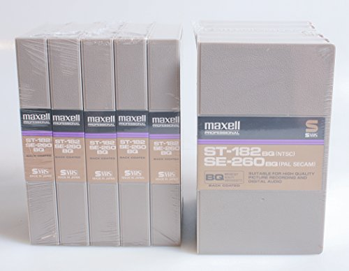 Cheap MAXELL S VHS 10 Pack VCR Tapes ST-182/SE-260BQ, New