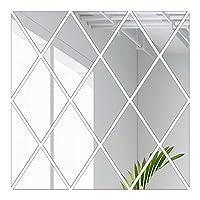 Funien ウォールステッカーウォールステッカーダイヤモンドミラー反射デザインDIYファミリーウォールアートステッカー装飾装飾