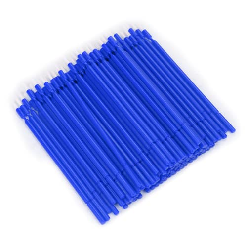 Dental Micro Applicator Brush, Non-Absorbent Fibers Dental Micro Brush Micro with Bendable Portion Micro Applicators Brushes for Makeup Beauty Dental Brush(Blue,)