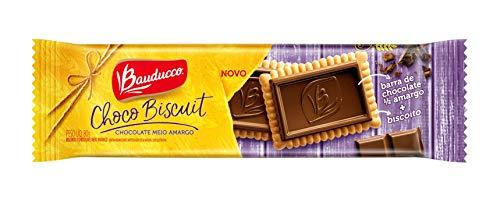 Choco Biscuit Chocolate Meio Amargo Bauducco 80g