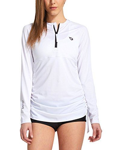 BALEAF Women's Long Sleeve Half-Zip Sun Protection Rashguard