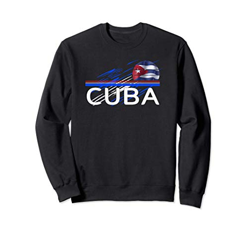 Cuba Kuba Fahne Sweatshirt