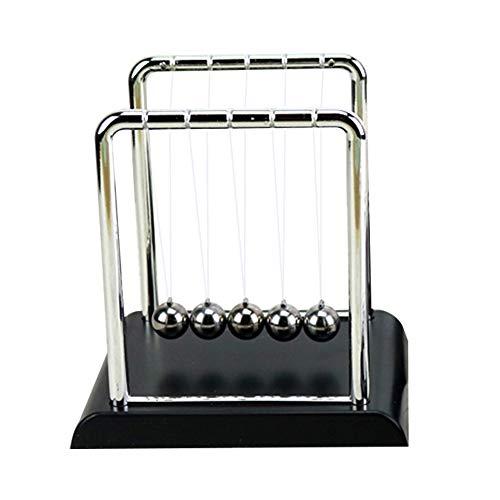 Klassieke Newton Cradle Balance Ballen Wetenschap Psychologie Puzzel Bureau Leuke Gadget Met Zwarte Houten Basis - groot