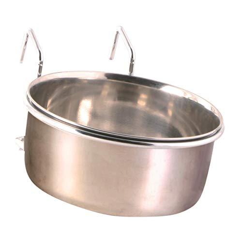 Trixie 5495 Edelstahlnapf mit Halter, 600 ml/ø 12 cm