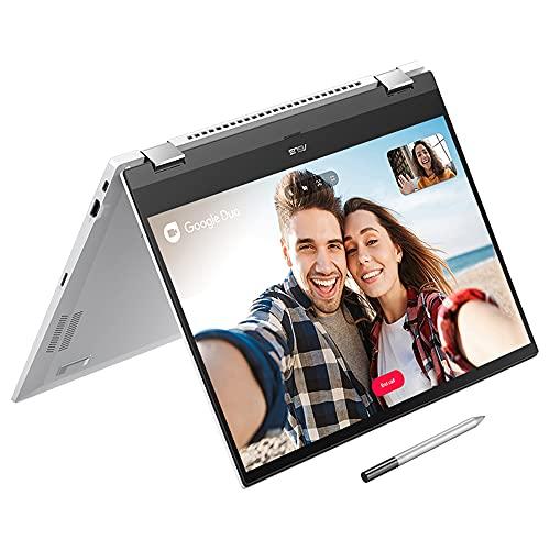 ASUS Touchscreen Full HD 15,6 Zoll ChromeBook CX5500FEA Laptop (Intel Core i3-1115G4, 8 GB RAM, 128 GB SSD, Chrome OS, Touchscreen, Tastatur mit Hintergr&beleuchtung) inkl. Eingabestift