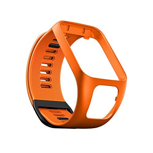 WANGSHANG Correa de repuesto para reloj deportivo inteligente compatible con Tom Tom 2/3 Series, unisex, de silicona de repuesto para reloj deportivo