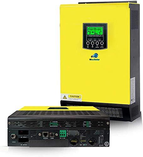 wccsolar Inverter Solar Onda Pura Hibrido 5500w 48V + Regulador Solar MPPT 90A / Rango Voltaje...