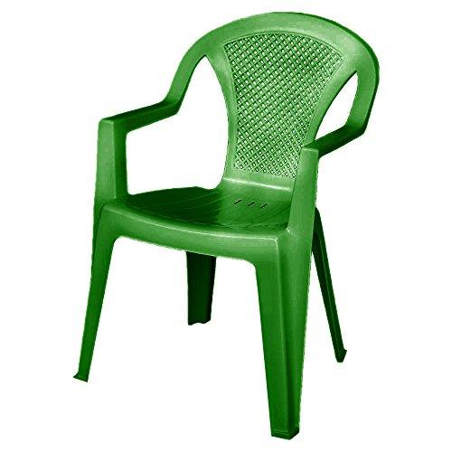 Sedia esterno resina verde L58.5xP57xH81.5cm giardino pub ristorante ISCHIA-V