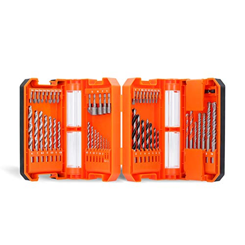 WELLCUT 51-Piece Heavy Duty Durable HSS Steel Industrial Drill & Screwdriver Bit Set with Magnet Bit Holder & a Portable Storage Case for DIY and Professional Application