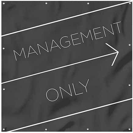 8x8 Basic Black Heavy-Duty Outdoor Vinyl Banner Management Only CGSignLab