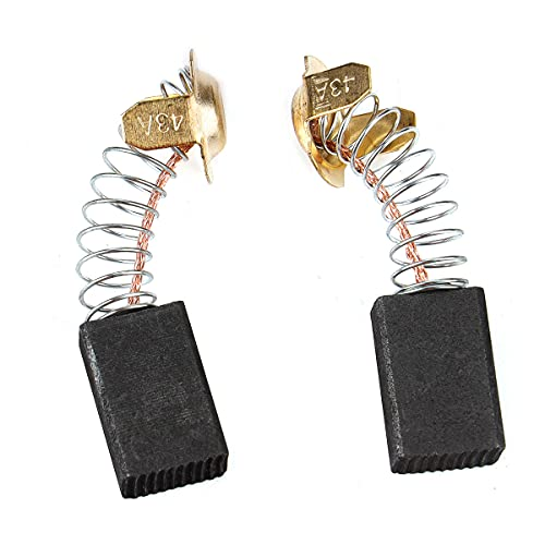 2 Pcs Carbon Brush 17mm x 11mm x 7mm for Electric Motor, Power Tool Replacement Repair Part
