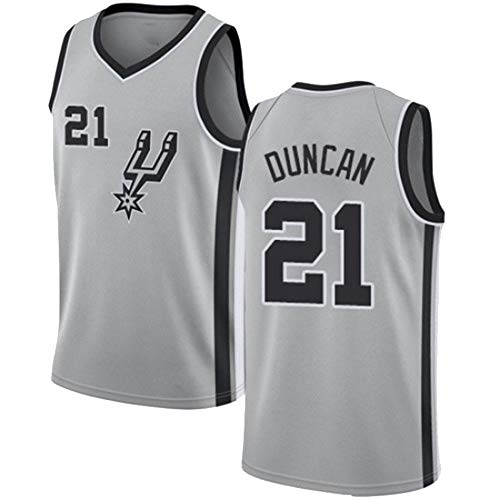 LXMR Estrella, Camiseta Spurs Duncan No. 21, Uniformes de Baloncesto para Adultos, camisetas-C3-Medium
