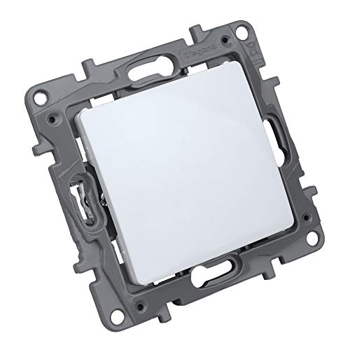 Tapa ciega con interruptor de encendido/apagado, color blanco, 764545 Niloe Legrand 2345