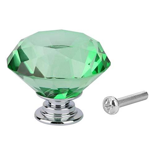 FTVOGUE 40mm diamantvorm meubeldeurgrepen kristallen glas stootgreep voor kledingkast ladekast ladegreep