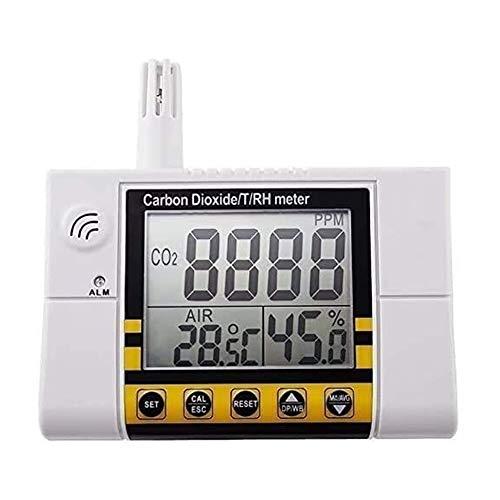 LILIS Carbon Monoxide Meter Kohlendioxid/Temperatur- / Luftfeuchtigkeit Luftqualitätsmessgerät, Wandmontierbarer CO2-Detektor, RH-Innenluftqualität IAQ Sensor, 0~2000PPM-Bereich