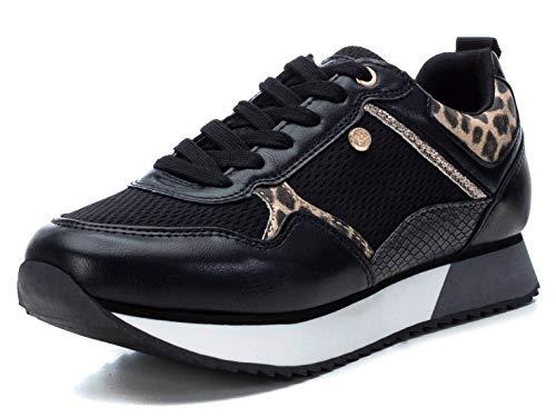 XTI 44363, Zapatillas Mujer, Negro, 38 EU