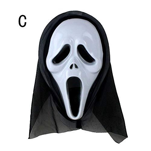 VEMOW Heißer Halloween Party Dekoration Lustige Vielfalt Phantasie Ball Maske(Weiß C, 21 * 31cm)