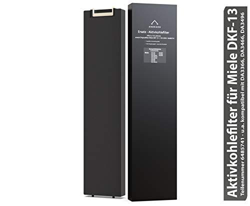ANDRADO Aktivkohlefilter für Miele DKF13 / DKF 13-1 - Geruchsfilter 6485741 - Kohlefilter für Dunstabzugshaube u.a. DA 3366, DA 3466, DA 3496