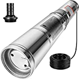 Happybuy Well Pump 1/2 HP Submersible Well Pump 164ft Head 25.5 GPM Stainless Steel Deep Well Pump for Industrial and Home Use