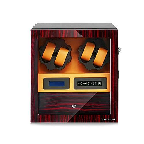Oksmsa Madera Cajas Giratorias for Relojes, Automatico Watch Winder por 4+5 Relojes, 5 Programas De Rotación, 110-240V EU-Adaptor (Color : B)