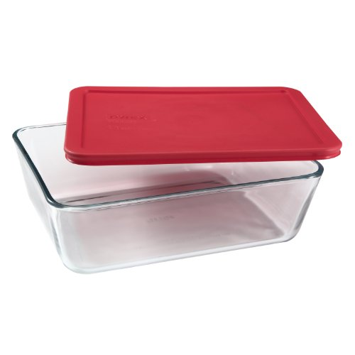 Pyrex Simply Store 11-Cup Rectangular Glass Food Storage Dish