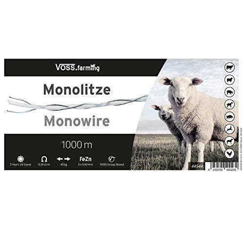 1000m Monolitze Polydraht transparent für Weidezaun Litze Elektrozaun – besonders geeignet für lange und schwierige Einzäunungen – für Schaf Rind und Ziege - 9