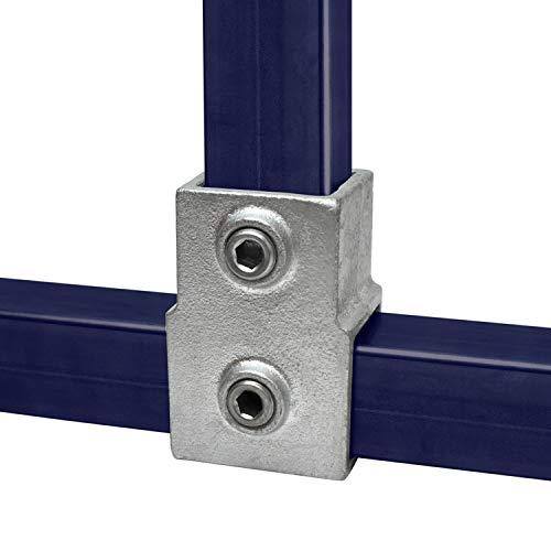 Pieza T de KLEMP Adaptación de tubo cuadrado corto 40x40 mm tubos cuadrados de hierro fundido maleable tipo 2S-40x40 mm