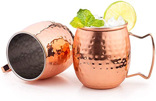 Set of 40 Moscow Mule Mug Copper Plated with Stainless Steel Lining Handles Classic Drinking Cup Set Home, Kitchen, Bar Drinkware Helps Keep Drinks Colder (40)
