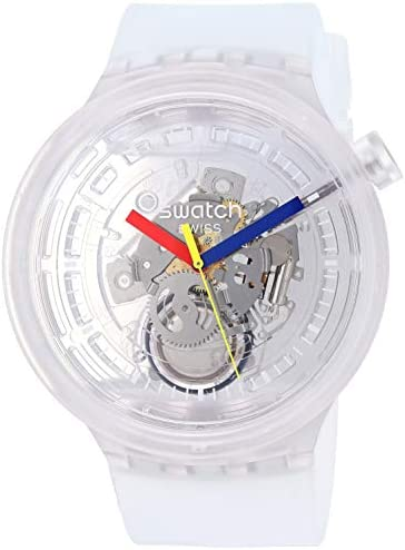 Swatch Big Bold Quartz Silicone Strap Transparent 25 Casual Watch Model SO27E100 product image