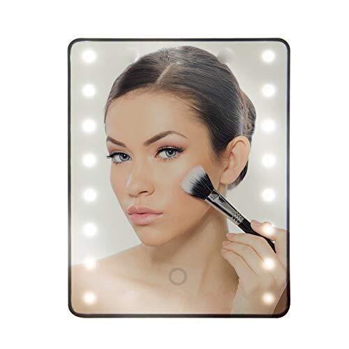 IREANJ Espejo de Vanidad de baño Espejo de Maquillaje Espejo con la luz/LED de luz de Espejo/Espejo de baño de Aumento con Lights1X Ronda Espejo de Aumento con luz LED iluminados con Las Luces del