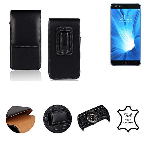 K-S-Trade® Holster Gürtel Tasche Für Nubia Z17 Mini S Handy Hülle Leder Schwarz, 1x