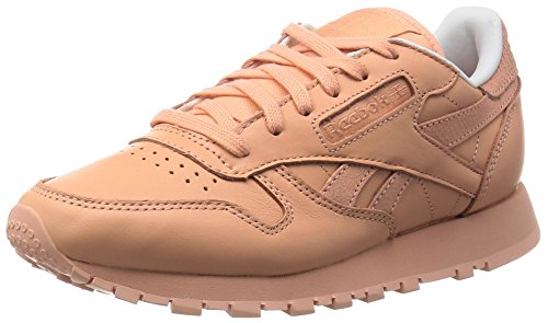 Reebok Damen Classic Leather Spirit Sneakers, Orange (Desert Stone/White/Rosette), 37.5 EU