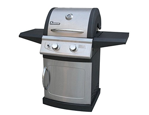 Landmann 42202 Falcon 2 Burner LP Gas Grill with Folding Shelves