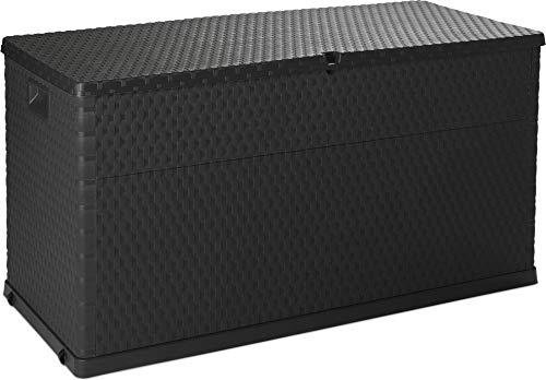 Coffre de Jardin d'extérieur avec Espace de Rangement de 420 l - Boîte de terrasse verrouillable - Taille XL - Plastique - 120 x 56 x 63 cm
