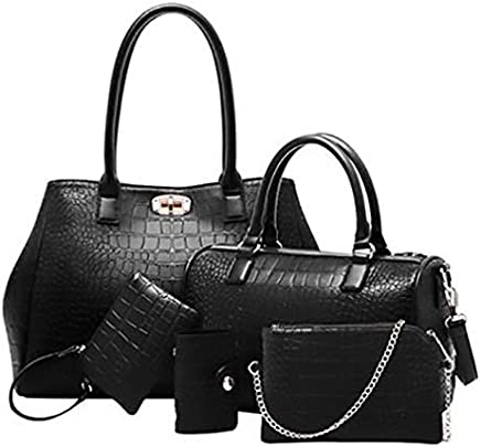 f1c23fb0bd80eb MY2 Multi-Function Five -Pieces Set Tote Bag for Women - Black
