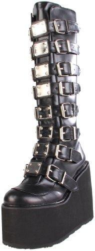 Demonia SWING-815, Damen Langschaft Stiefel, Schwarz (Schwarz (Blk Vegan Leather)), 39 EU (6 Damen UK)