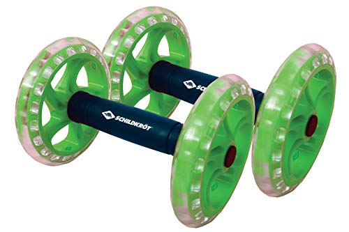 Schildkröt Fitness Dual Roller 2er Set, neue Version mit Kugellager, Core Wheel, Bauchtrainer, in 4-Farb Karton, 960147