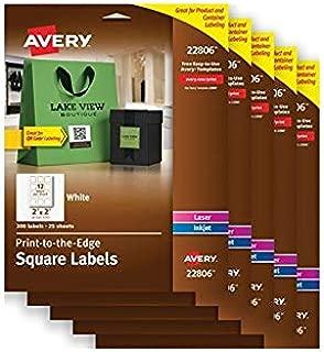 Avery Square Labels for Laser & Inkjet Printers, 2