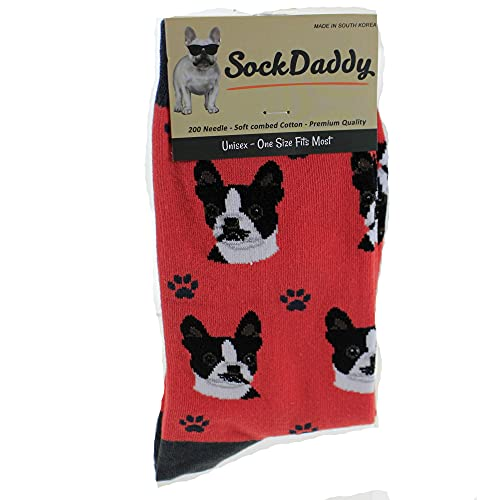 Boston Terrier Socks - Soft and Comfortable - Life Like Detail - Unisex, One Size Fits Most