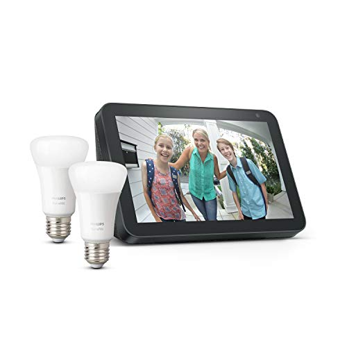 Echo Show 8 - Tessuto antracite + Lampadine intelligenti a LED...