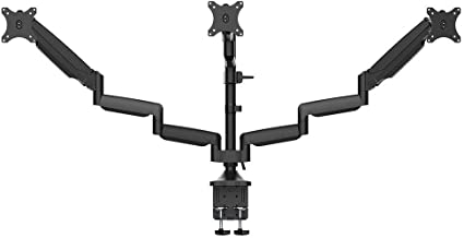 "Monoprice Triple Monitor Gas Spring Mount for up to 32"" Screens, Fully Adjustable Center Mount high-Strength Steel and Alu..."