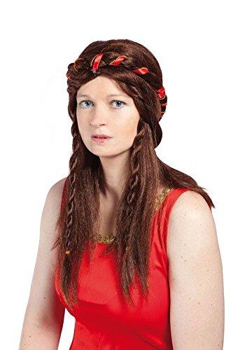 Generique - Perruque médiévale Marron Femme