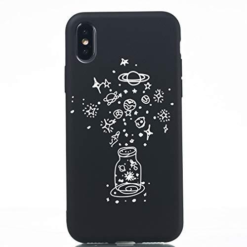 Mobiel DFDA TPU Beschermhoes For De IPhone XR (Lotus Vijver) Shockproof (Color : Make a wish bottle)