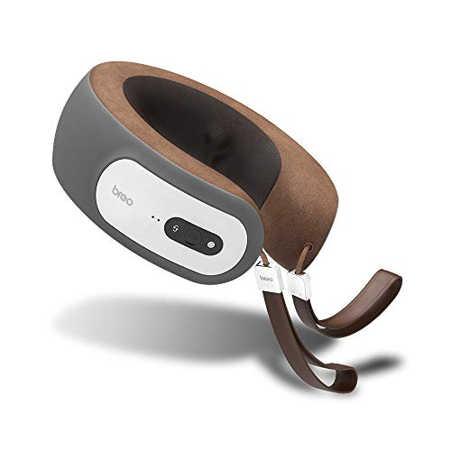 Breo iNeck3 Elektrische nekmassageapparaat met warmte, oplaadbaar draadloos reis-nekkussen en cervixmassageapparaat